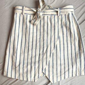 "Madewell ""Portside"" Linen and Cotton Skirt"